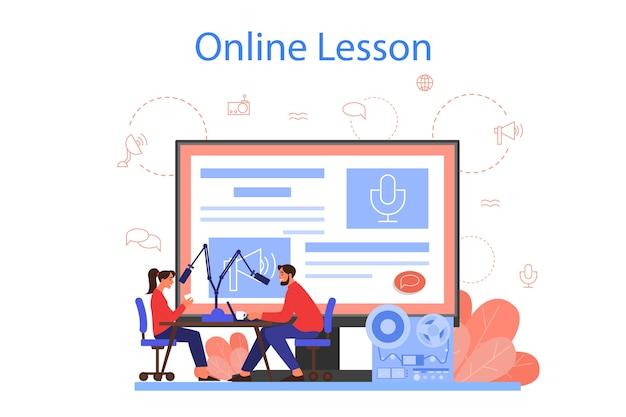 Servicio o plataforma de lecciones en línea de radio