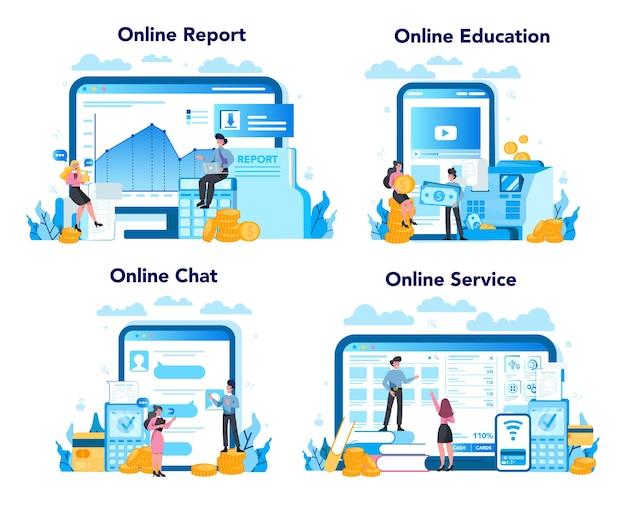 Servicio o plataforma en línea de cajero