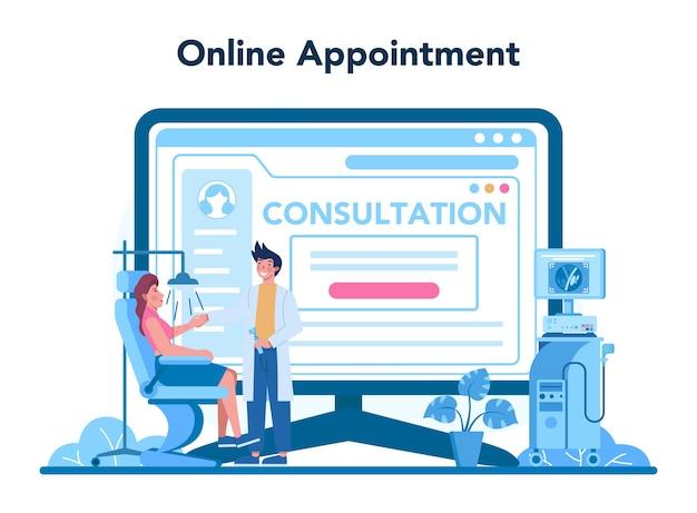 Servicio o plataforma en línea para dermatólogos