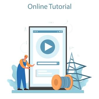 Servicio o plataforma en línea del instalador