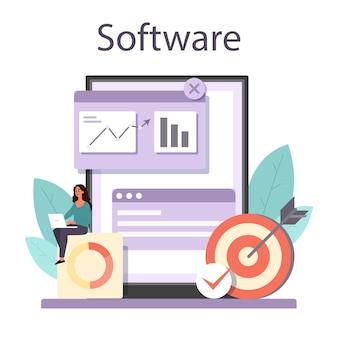 Servicio o plataforma en línea del optimizador de seo.