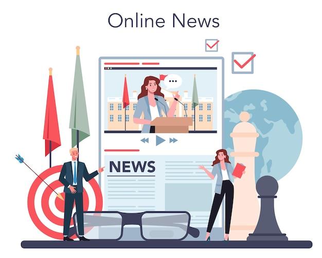 Servicio o plataforma en línea para políticos