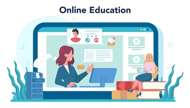 Servicio o plataforma en línea de secretaria