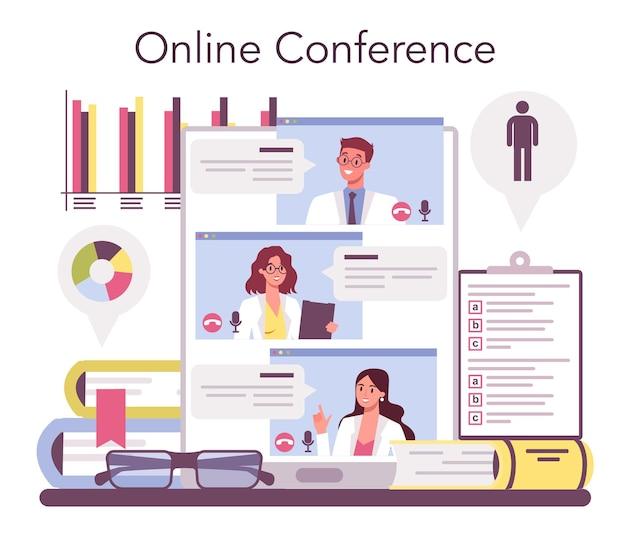 Servicio o plataforma en línea de sociólogo