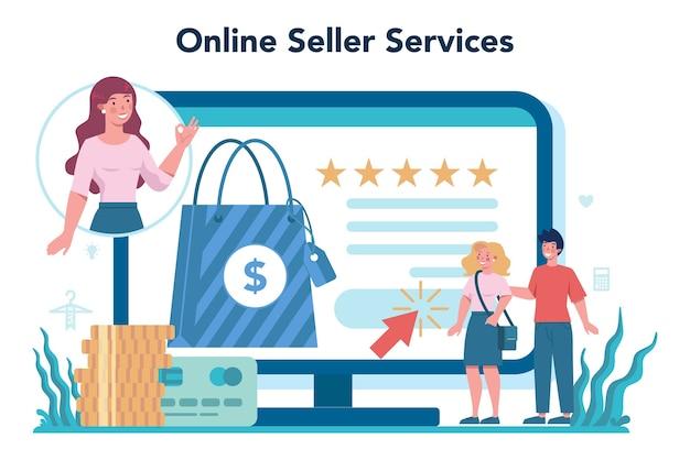 Servicio o plataforma en línea del vendedor