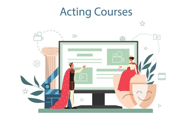Servicio o plataforma online de actor y actriz