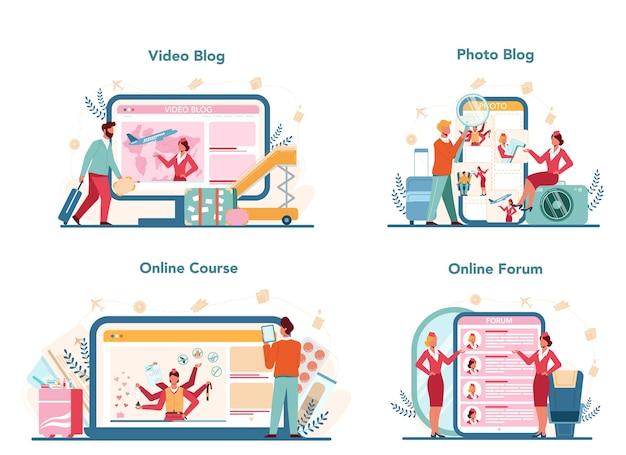 Servicio o plataforma online de azafata