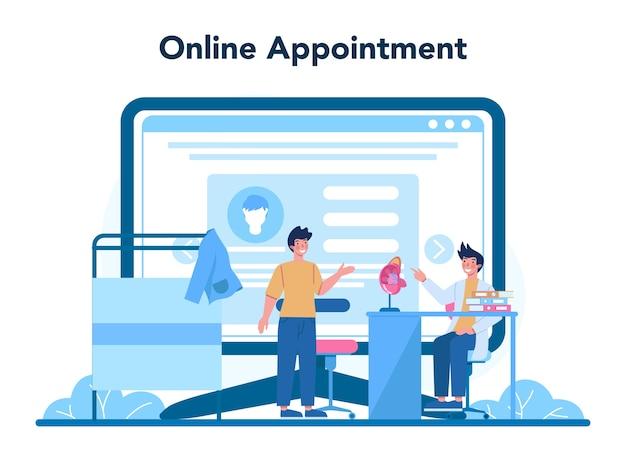 Servicio o plataforma online de urólogo.