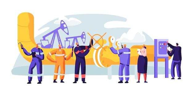 Servicio de oleoducto. control de caracteres y comprobación del nivel de protección catódica.