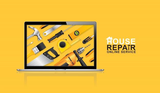 Servicio online de herramientas de construcción.
