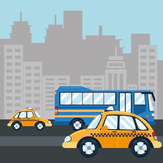 Servicio público de tráfico de transporte urbano