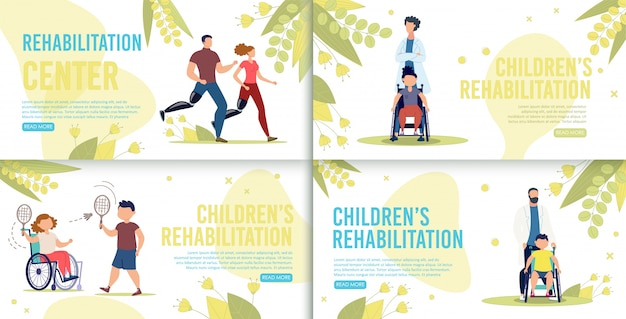 Servicio de rehabilitación infantil banners web