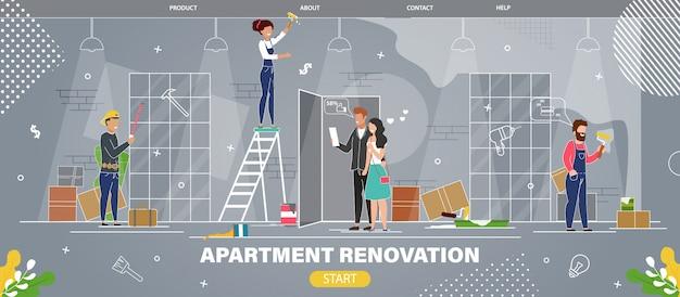 Servicio de renovación de apartamentos sitio web plano
