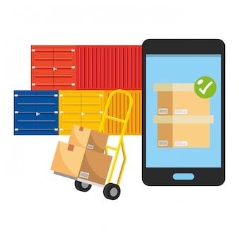 Servicio de seguimiento de entregas envío logístico