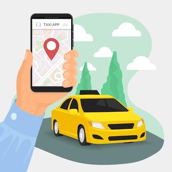 Servicio de transporte de la aplicación de taxi