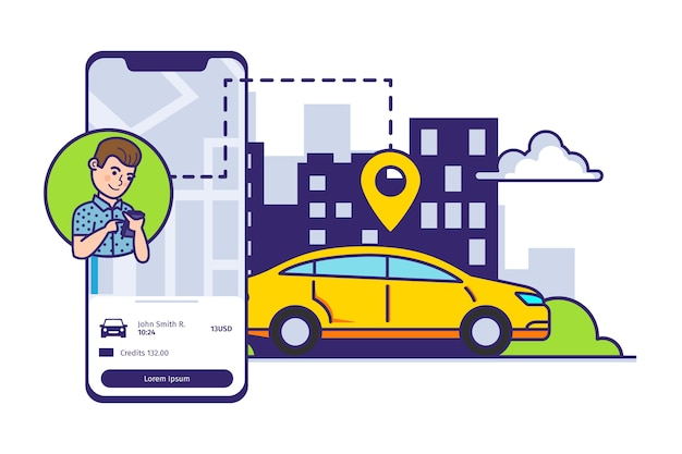 Servicio de transporte de solicitud de taxi