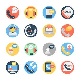 Servicios al cliente e iconos de atención al cliente