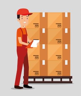 Servicios logísticos con repartidor
