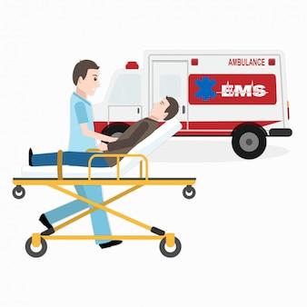 Servicios medicos de emergencia, rescate medico.
