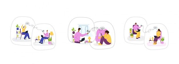 Servicios psicológicos en línea. apoyo personal a distancia o asistencia a domicilio por internet.