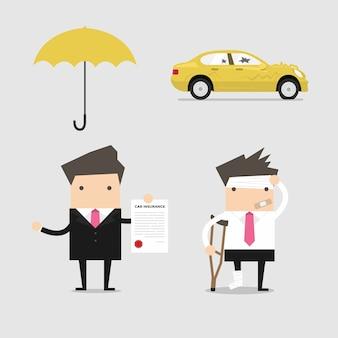 Servicios de seguros empresariales conceptuales.