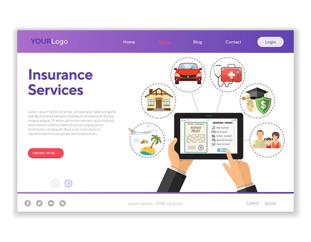 Servicios de seguros en línea
