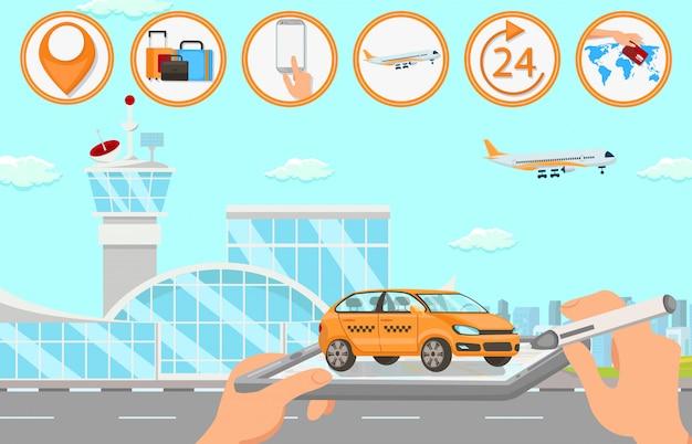 Servicios de taxi en el aeropuerto