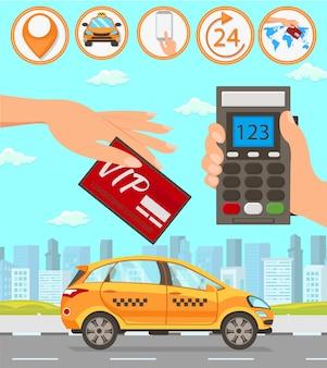 Servicios de taxi y conductor