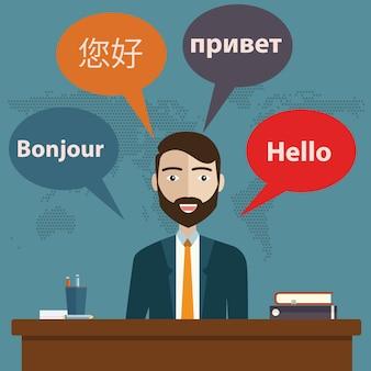 Servicios de traducción sincrónica.