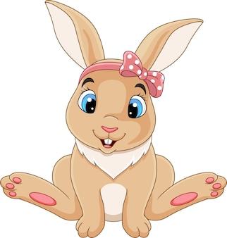 Sesión de dibujos animados lindo bebé conejo