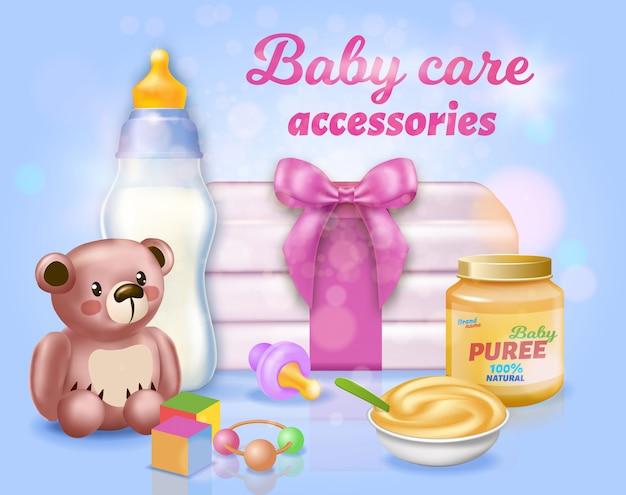 Set de accesorios para el cuidado del bebé
