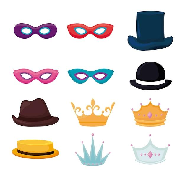 Set accesorios de fiesta tradicionales.