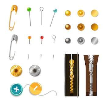 Set de accesorios de metal