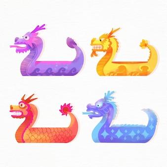 Set de acuarela dragon boat
