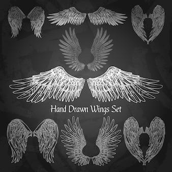 Set de alas de pizarra