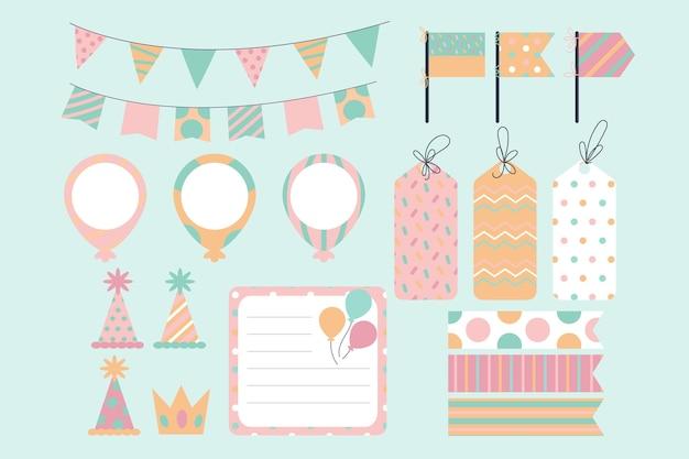 Set de álbum de recortes de cumpleaños