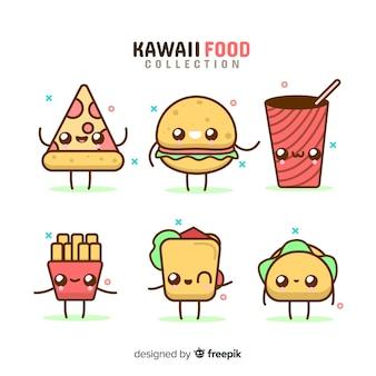 Set de alimentos en estilo kawaii