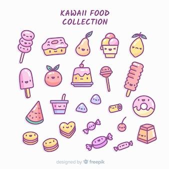 Set de alimentos de estilo kawaii