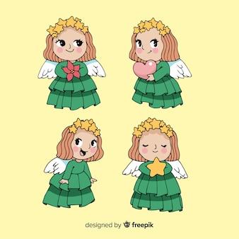 Set de ángeles de navidad