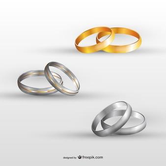 Set de anillos de boda