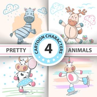 Set animales de dibujos animados