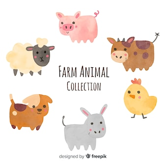 Set de animales de granja