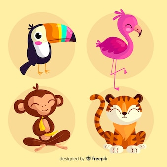 Set de animales tropicales