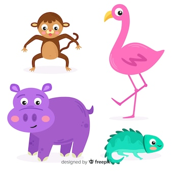 Set de animales tropicales