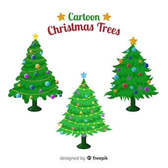 Set de árboles de navidad