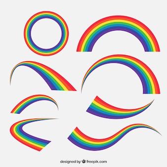 Set de arcoiris colorido