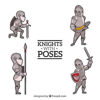 Set de armaduras dibujadas a mano