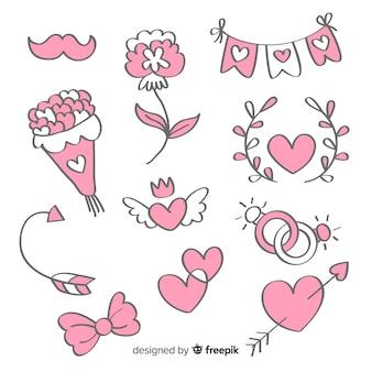 Set de artículos de boda