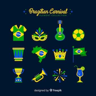 Set de artículos del carnaval de brasil