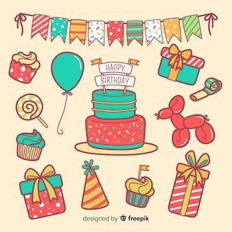 Set de artículos de cumpleaños